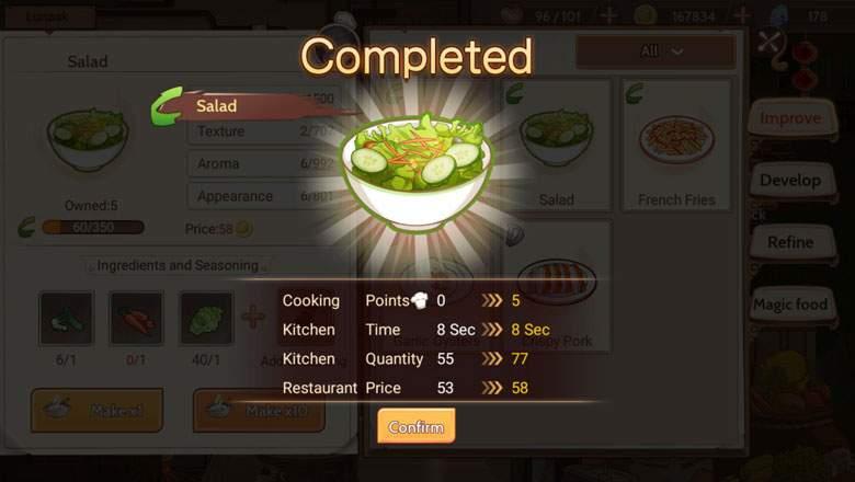 Daftar Lengkap Resep Food Fantasy Light Kingdom Sakurajima Gloriville Lost Recipe Jonooit