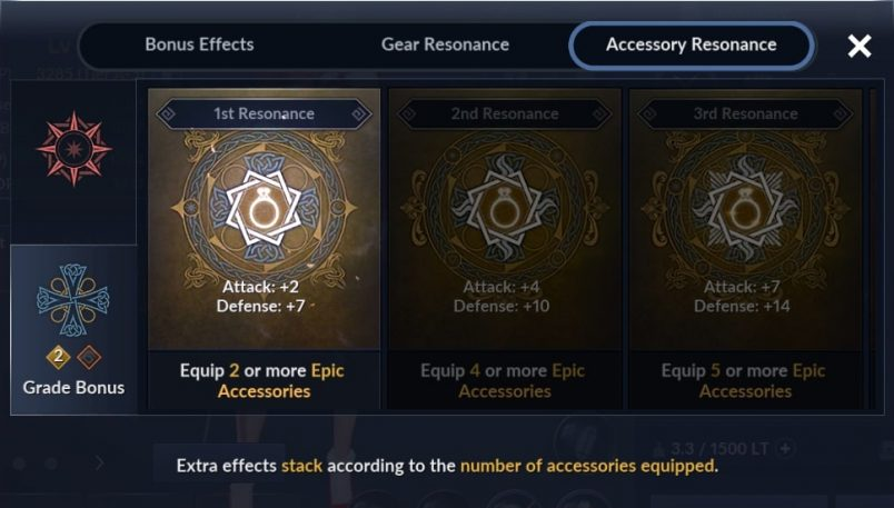 Pembaruan: Accessory Resonance (Grade Bonus) - Black ...
